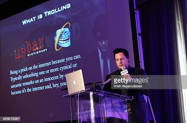 Ralph Echemendia The Ethical Hacker and Chief Executive Officer RedE Digital speaks on Hacking Hollywood Behind the Eyes of A Troll onstage during...