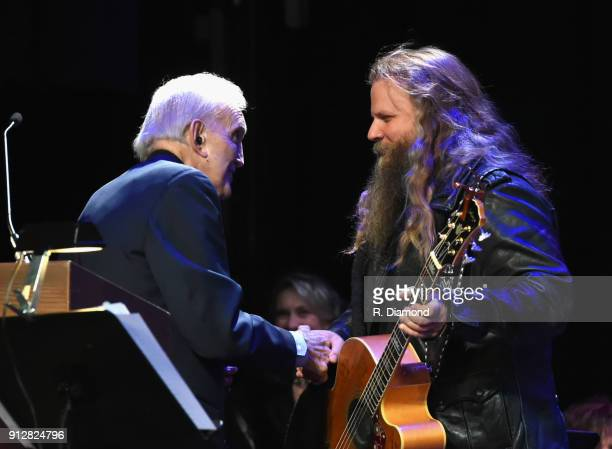 Ralph Emery and Jamey Johnson attend Singer/Songwriter/Comedian Member of both The Nashville Songwriters Hall of Fame and Country Music Hall of Fame...
