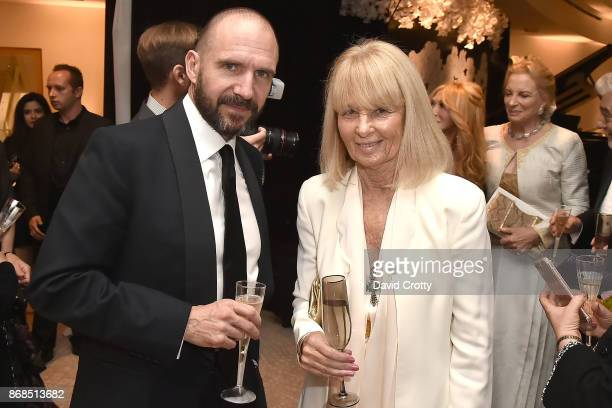 Ralph Fiennes and Caroline Graham attend the Mariinsky Orchestra Concert in honor of Henry Segerstrom and the 50th anniversary of South Coast Plaza...