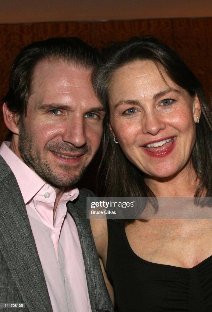 Ralph Fiennes and Cherry Jones during Opening Night for Brian Friel's 'Faith Healer' on Broadway - May 4, 2006 at The Booth Theater in New York City, New York, United States.