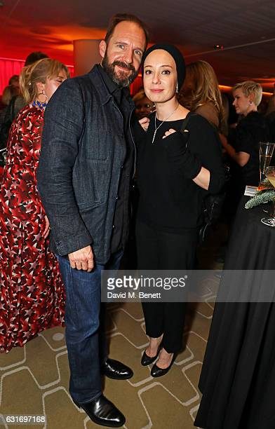 Ralph Fiennes and Chulpan Khamatova attend a performance of Prokofiev's Romeo Juliet in aid of Gift Of Life at the Royal Festival Hall on January 14...