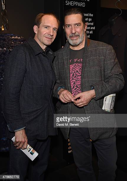 Ralph Fiennes and Ciaran Hinds attend the Maison Mais Non launch party as Micheal Neeson launches fashion gallery in Soho on June 2 2015 in London...