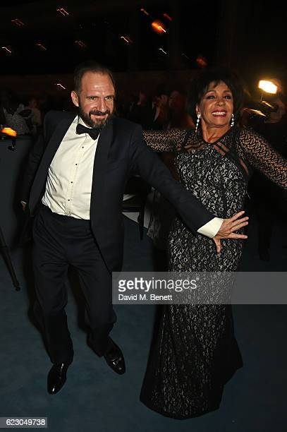 Ralph Fiennes and Dame Shirley Bassey attend The 62nd London Evening Standard Theatre Awards after party recognising excellence from across the world...