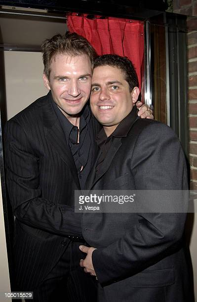 Ralph Fiennes and director Brett Ratner during 'Red Dragon' Premiere After AfterParty at the Hudson Hotel at Hudson Hotel in New York New York United...