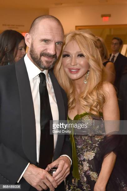 Ralph Fiennes and Elizabeth Segerstrom attend the Mariinsky Orchestra Concert in honor of Henry Segerstrom and the 50th anniversary of South Coast...