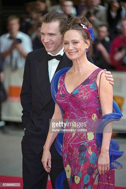 Ralph Fiennes and Francesca Annis arriving at the BAFTA awards ceremony