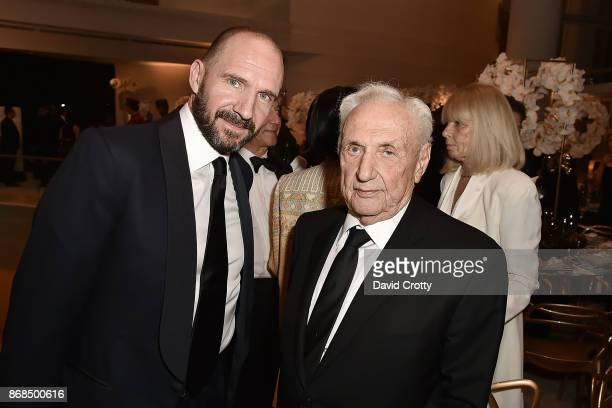 Ralph Fiennes and Frank Gehry attend the Mariinsky Orchestra Concert in honor of Henry Segerstrom and the 50th anniversary of South Coast Plaza on...