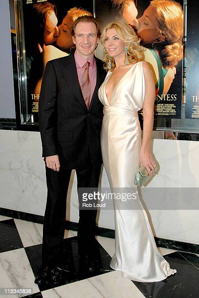 Ralph Fiennes and Natasha Richardson during Merchant Ivory's The White Countess New York City Premiere at The Paris Theatre in New York City New York...