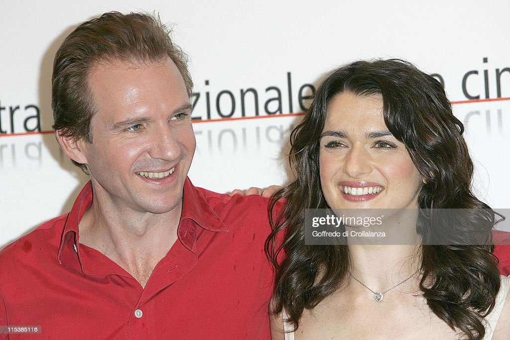 Ralph Fiennes and Rachel Weisz during 2005 Venice Film Festival - 'The Constant Gardener' - Photocall at Venice Lido in Venice, Italy.