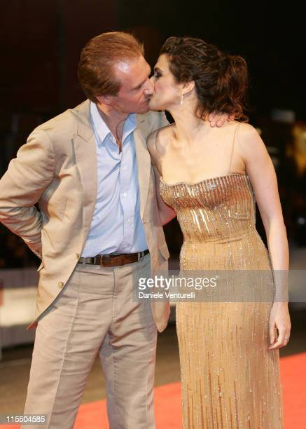 Ralph Fiennes and Rachel Weisz during 2005 Venice Film Festival 'The Constant Gardener' Premiere Arrivals in Venice Italy