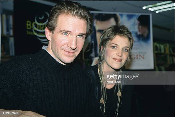 Ralph Fiennes and sister during Ralph Fiennes File Pictures at Borders in London Great Britain