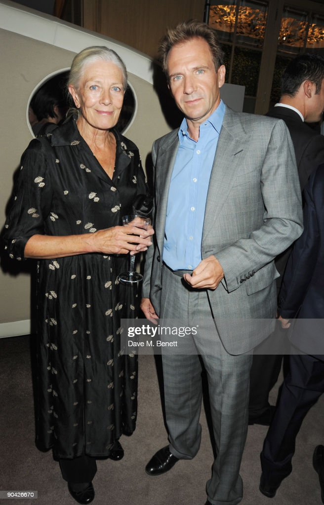 Ralph Fiennes and Vanessa Redgrave attend the Harper's Bazaar Women Of The Year Awards at The Dorchester on September 7, 2009 in London, England.