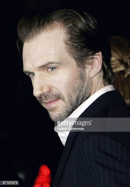 Ralph Fiennes arrives at the UK Premiere of 'The White Countess' at the Curzon Mayfair on March 19 2006 in London England