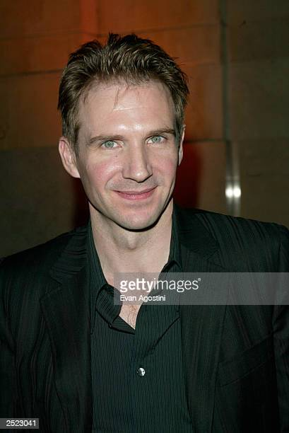 Ralph Fiennes at the 'Red Dragon' world premiere afterparty at Vanderbilt Hall in Grand Central Station New York City September 30 2002 Photo by Evan...