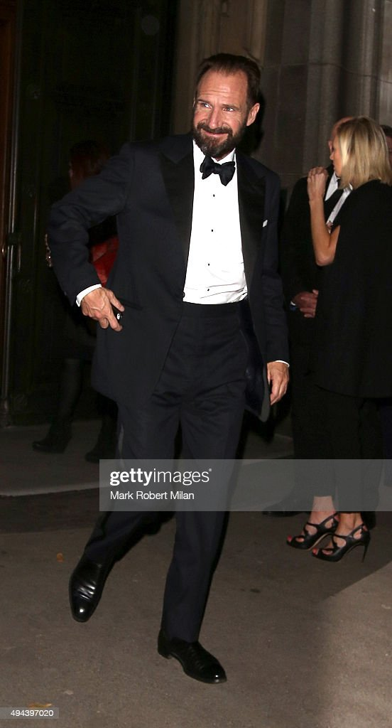 Ralph Fiennes attending the Spectre Premiere after party at the British Museum on October 26, 2015 in London, England.