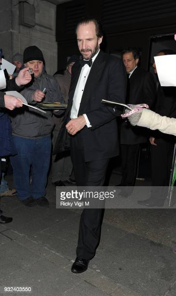 Ralph Fiennes attends a BAFTA after party on February 8 2015 in London England