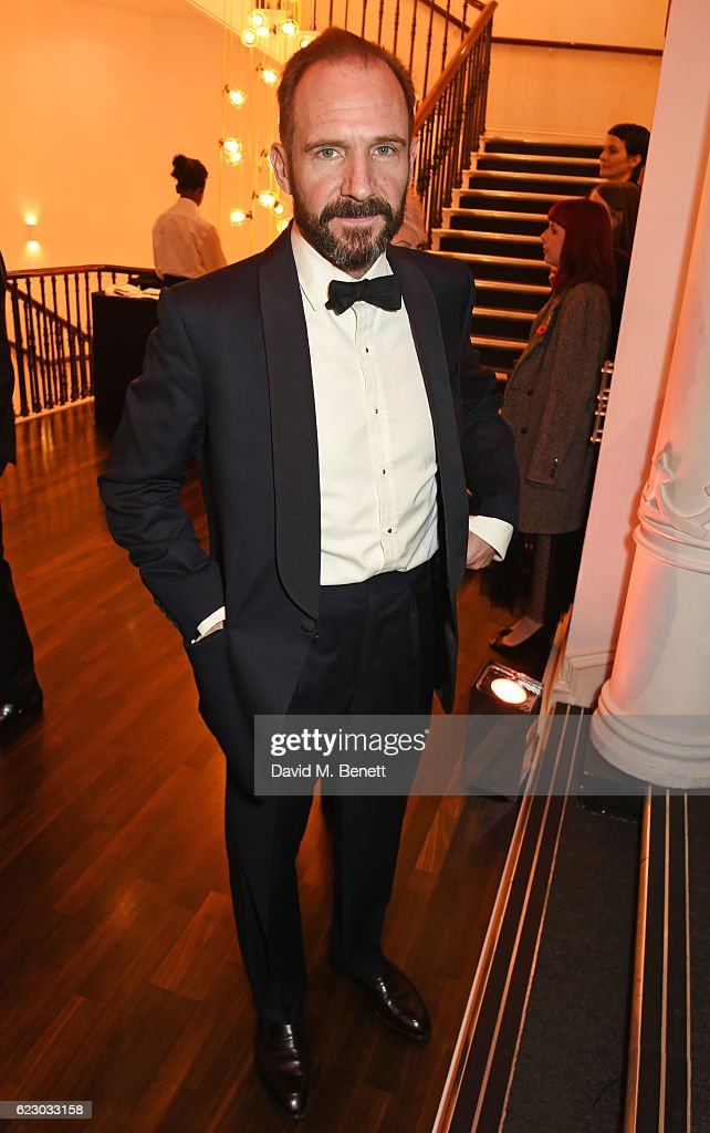 Ralph Fiennes attends a cocktail reception at The 62nd London Evening Standard Theatre Awards, recognising excellence from across the world of theatre and beyond, at The Old Vic Theatre on November 13, 2016 in London, England.
