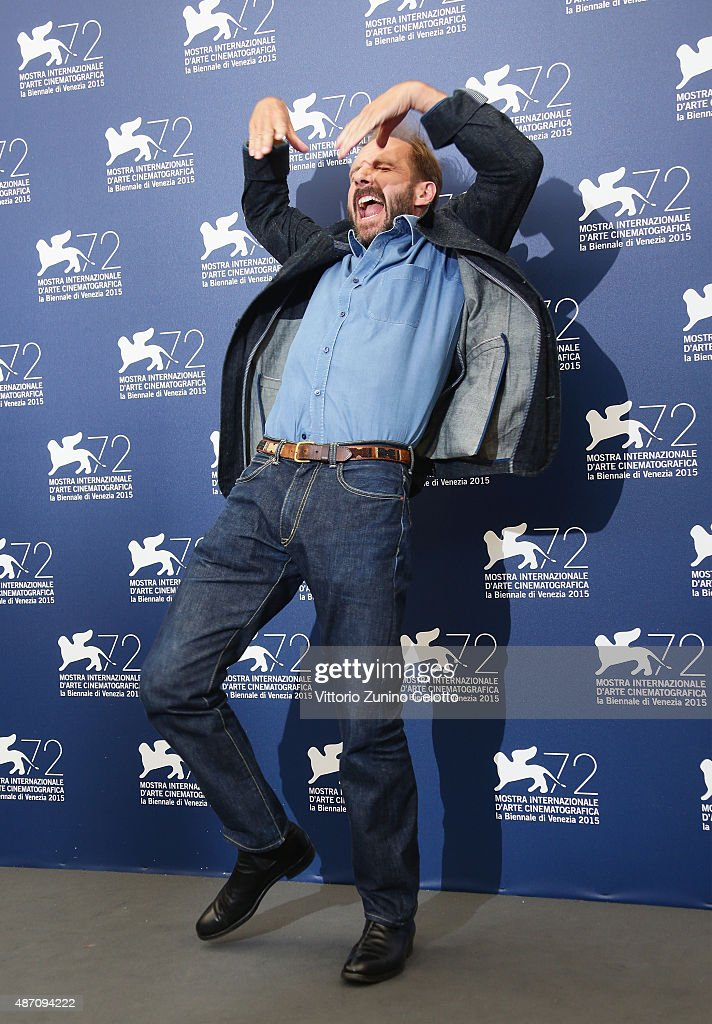 Ralph Fiennes attends a photocall for 'A Bigger Splash' during the 72nd Venice Film Festival at Palazzo del Casino on September 6, 2015 in Venice, Italy.