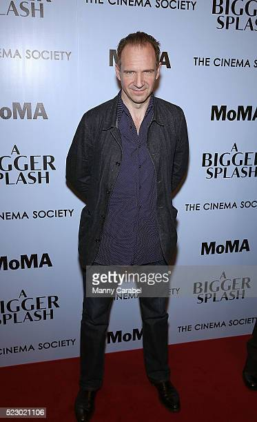 Ralph Fiennes attends Fox Searchlight Pictures with The Cinema Society host a screening of 'A Bigger Splash' at Museum of Modern Art on April 21 2016...