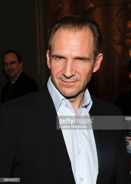 Ralph Fiennes attends the 2011 Shakespeare Society Medal presentation at the Rubin Museum of Art on December 9 2011 in New York City
