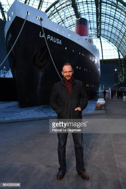 Ralph Fiennes attends the Chanel Cruise 2018/2019 Collection at Le Grand Palais on May 3 2018 in Paris France