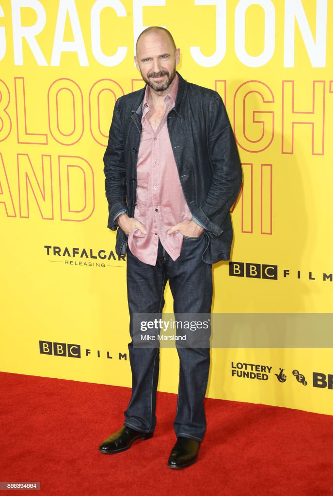 Ralph Fiennes attends the 'Grace Jones: Bloodlight And Bami' UK premiere at BFI Southbank on October 25, 2017 in London, England.