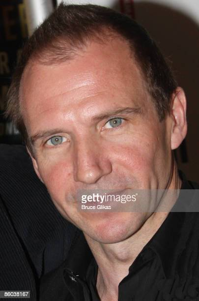 Ralph Fiennes attends the opening night of 'Mary Stuart' on Broadway at the Broadhurst Theatre on April 19 2009 in New York City