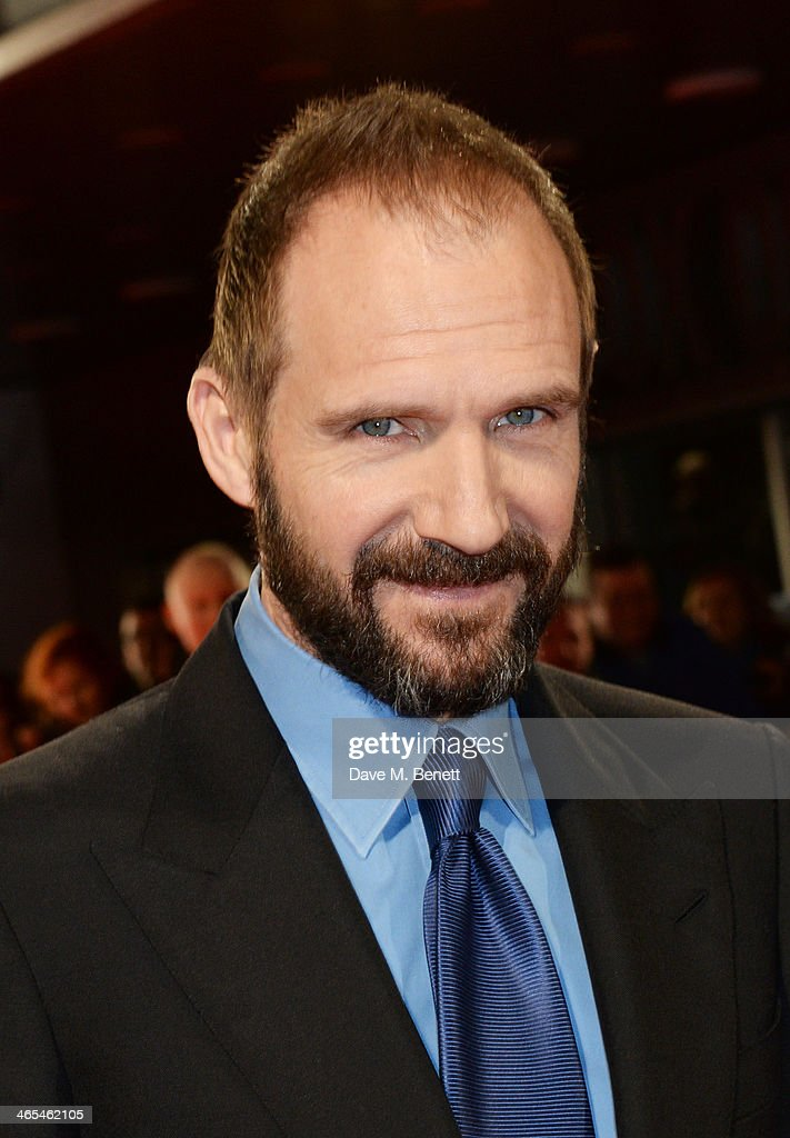 Ralph Fiennes attends the UK Premiere of 'The Invisible Woman' at the ODEON Kensington on January 27, 2014 in London, England.