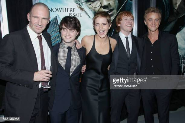 Ralph Fiennes Daniel Radcliffe Emma Watson Rupert Grint and Tom Felton attend New York Premiere of HARRY POTTER AND THE DEATHLY HALLOWS at Alice...