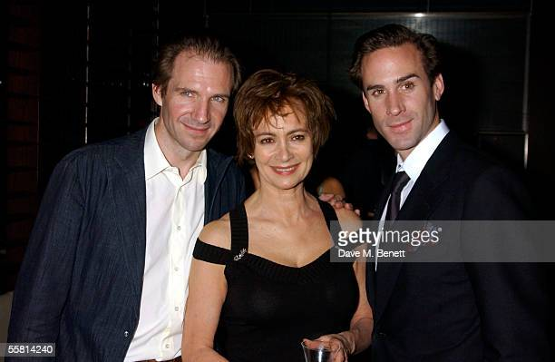 Ralph Fiennes Francesca Annis and Joseph Fiennes attend the Epitaph For George Dillon opening night after party at The Mint Leaf Restaurant September...