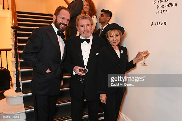 Ralph Fiennes Gawn Grainger and Zoe Wanamaker attend a champagne reception ahead of The London Evening Standard Theatre Awards in partnership with...