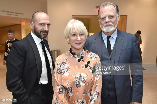 Ralph Fiennes Helen Mirren and Taylor Hackford attend the Mariinsky Orchestra Concert in honor of Henry Segerstrom and the 50th anniversary of South...