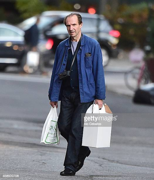 Ralph Fiennes is seen in the West Village on November 13 2014 in New York City