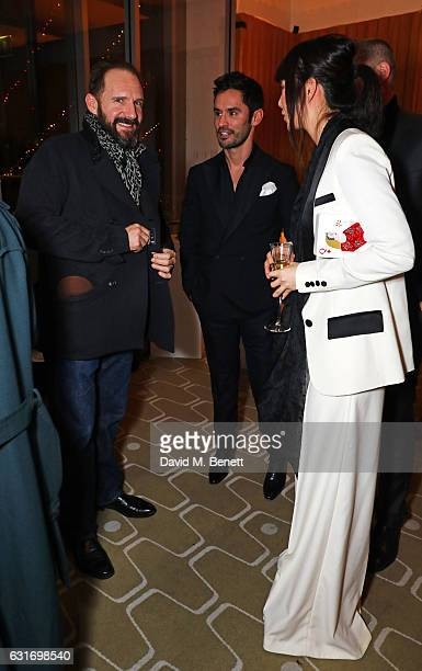Ralph Fiennes JeanBernard FernandezVersini and Betty Bachz attend a performance of Prokofiev's Romeo Juliet in aid of Gift Of Life at the Royal...