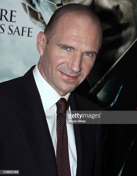 Ralph Fiennes poses at the premiere of Harry Potter and the Deathly Hallows Part 1 at Alice Tully Hall on November 15 2010 in New York City