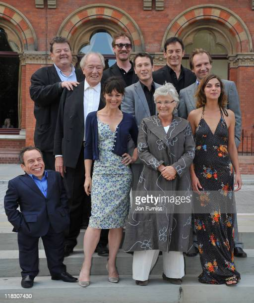 Ralph Fiennes, Robbie Coltrane, Warwick Davis, Nick Moran, Natalia Tena, Jason Isaacs, Michael Gambon, Julie Walters, Helen McCrory and David Thew...