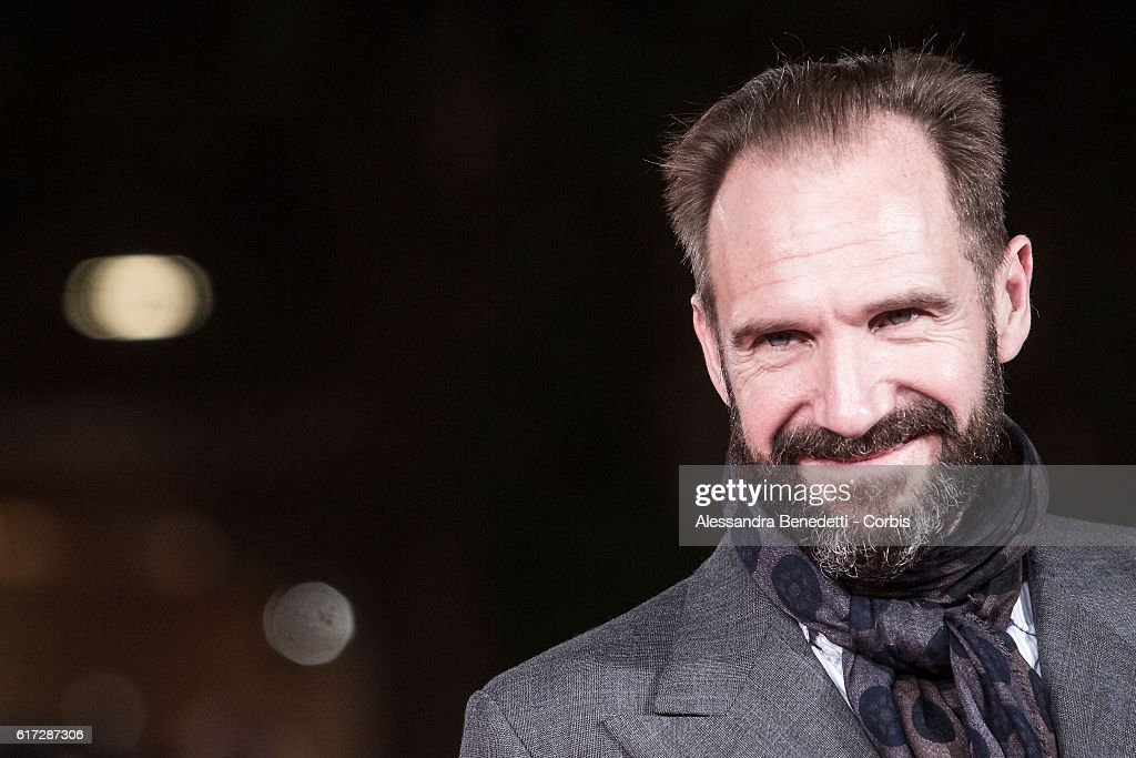 Ralph Fiennes walks a red carpet for 'The English Patient - Il Paziente Inglese' during the 11th Rome Film Festival on October 22, 2016 in Rome, Italy.