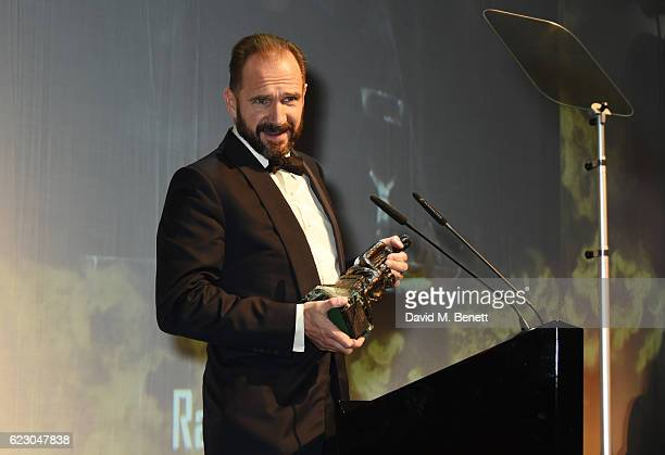 Ralph Fiennes, winner of the Best Actor award, speaks onstage at the 62nd London Evening Standard Theatre Awards, recognising excellence from across...