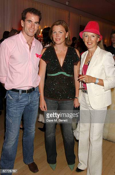 Ralph Firman Eimear Montgomerie and Marie Jordan attend the LaurentPerrier Pink Party in aid of The Prince's Trust at the Sanderson Hotel on April 27...