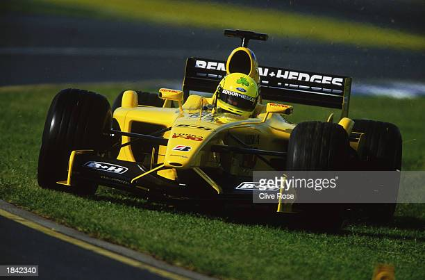 Ralph Firman of Great Britain and Jordan cuts across the grass during the Fosters Australian Formula One Grand Prix at Albert Park in Melbourne...