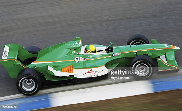 Ralph Firman of Ireland in action during warm up for the A1 Grand Prix of Nations at the Circuito Estoril on October 23 2005 in Estoril Portugal