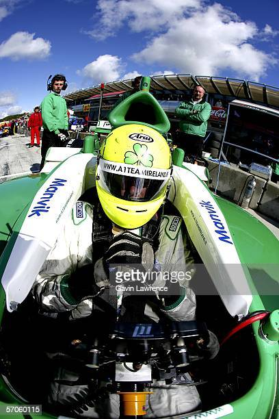 Ralph Firman sits in his Team Ireland car during qualifying for the A1 Grand Prix of Nations California USA on March 11 2006 at the Mazda Raceway...