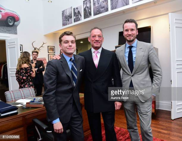 Ralph Fitzgerald Anthony Peck and Michael Anderson attend Huntsman's New NYC PiedaTerre Opening at 130 West 57th st on June 27 2017 in New York City