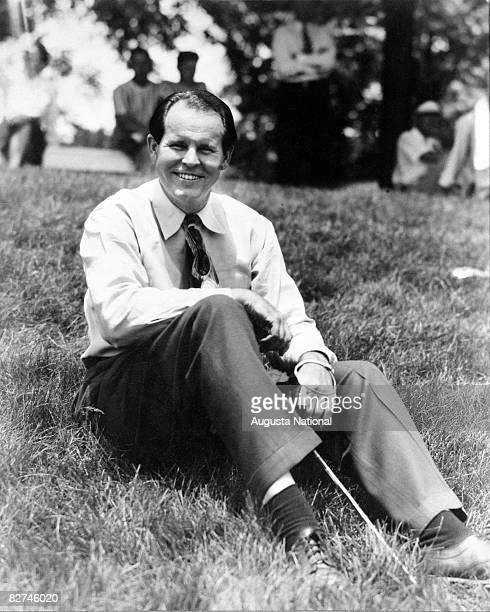 Ralph Guldahl during the 1939 Masters Tournament at Augusta National Golf Club in Augusta, Georgia.