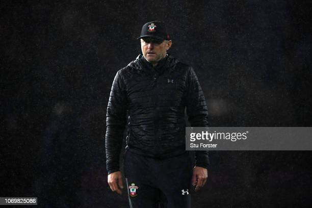 Ralph Hasenhuettl Manager of Southampton looks dejected after the Premier League match between Cardiff City and Southampton FC at Cardiff City...