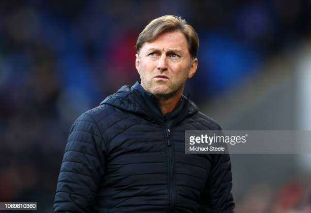 Ralph Hasenhuettl Manager of Southampton looks on prior to the Premier League match between Cardiff City and Southampton FC at Cardiff City Stadium...