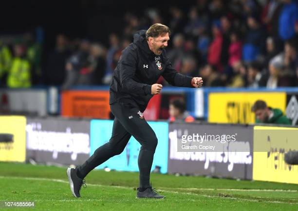 Ralph Hasenhuettl Manager of Southampton reacts during the Premier League match between Huddersfield Town and Southampton FC at John Smith's Stadium...