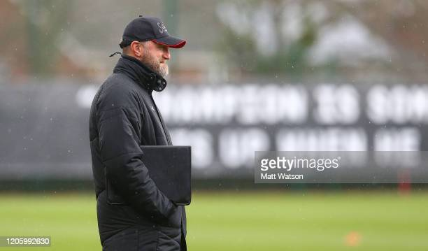 Ralph Hasenhuttl during a Southampton FC training session at the Staplewood Complex on February 13 2020 in Southampton England
