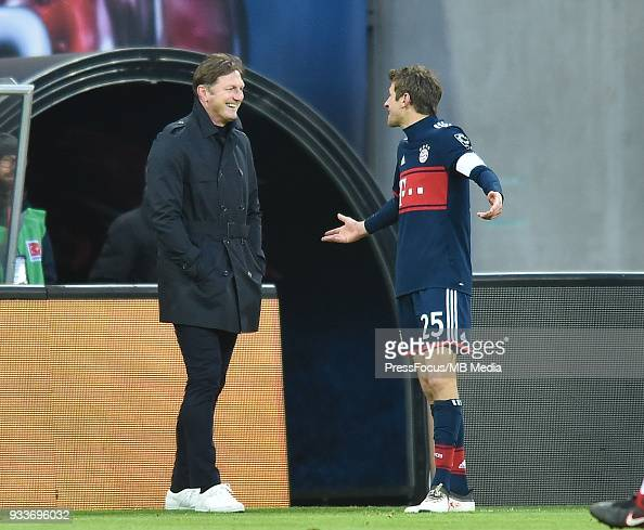 Ralph Hasenhuttl Head Coach Of Rb Leipzig And Thomas Muller Of News Photo Getty Images