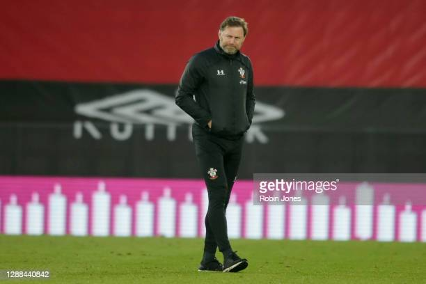 Ralph Hasenhuttl of Southampton after his side's 32 defeat during the Premier League match between Southampton and Manchester United at St Mary's...
